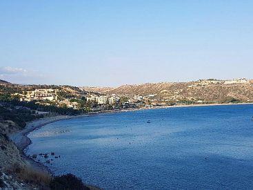 Tohle je Pissouri Bay, kde jsme bydlely