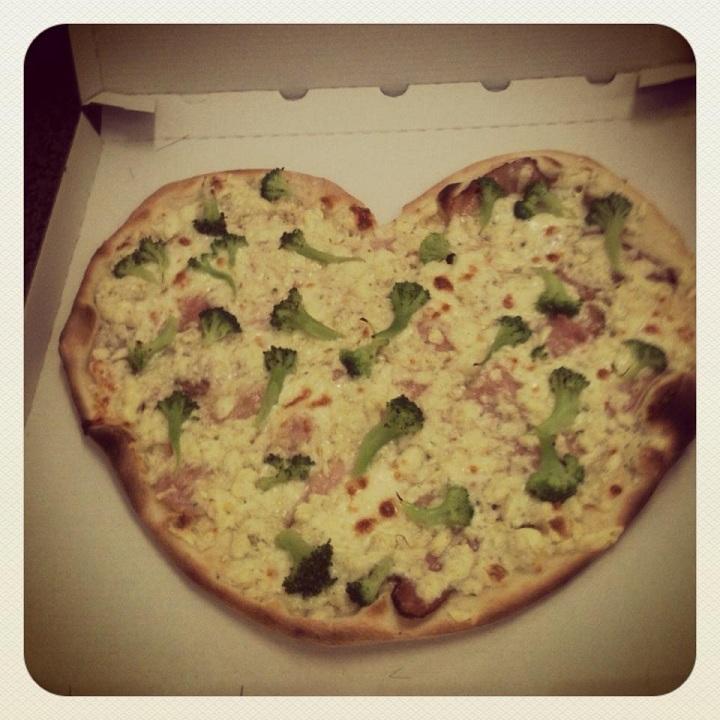 Pizza ve tvaru srdce