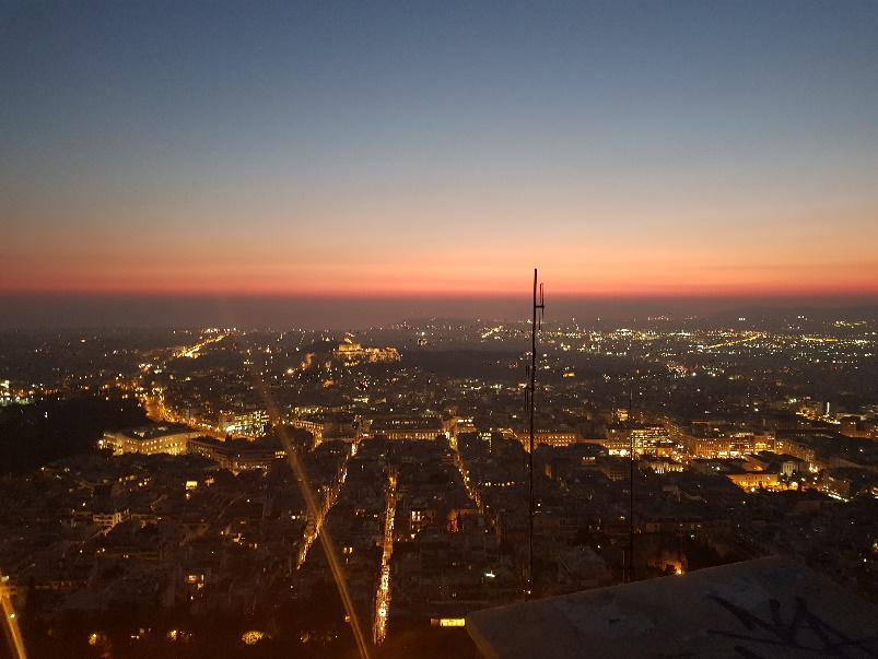Athény - západ slunce