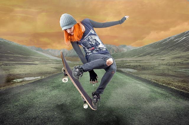 Skateboarďačka