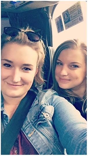 Selfie z busu na cestě z letiště do Londýna