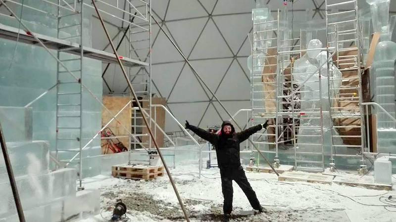 Stavba ľadového dómu