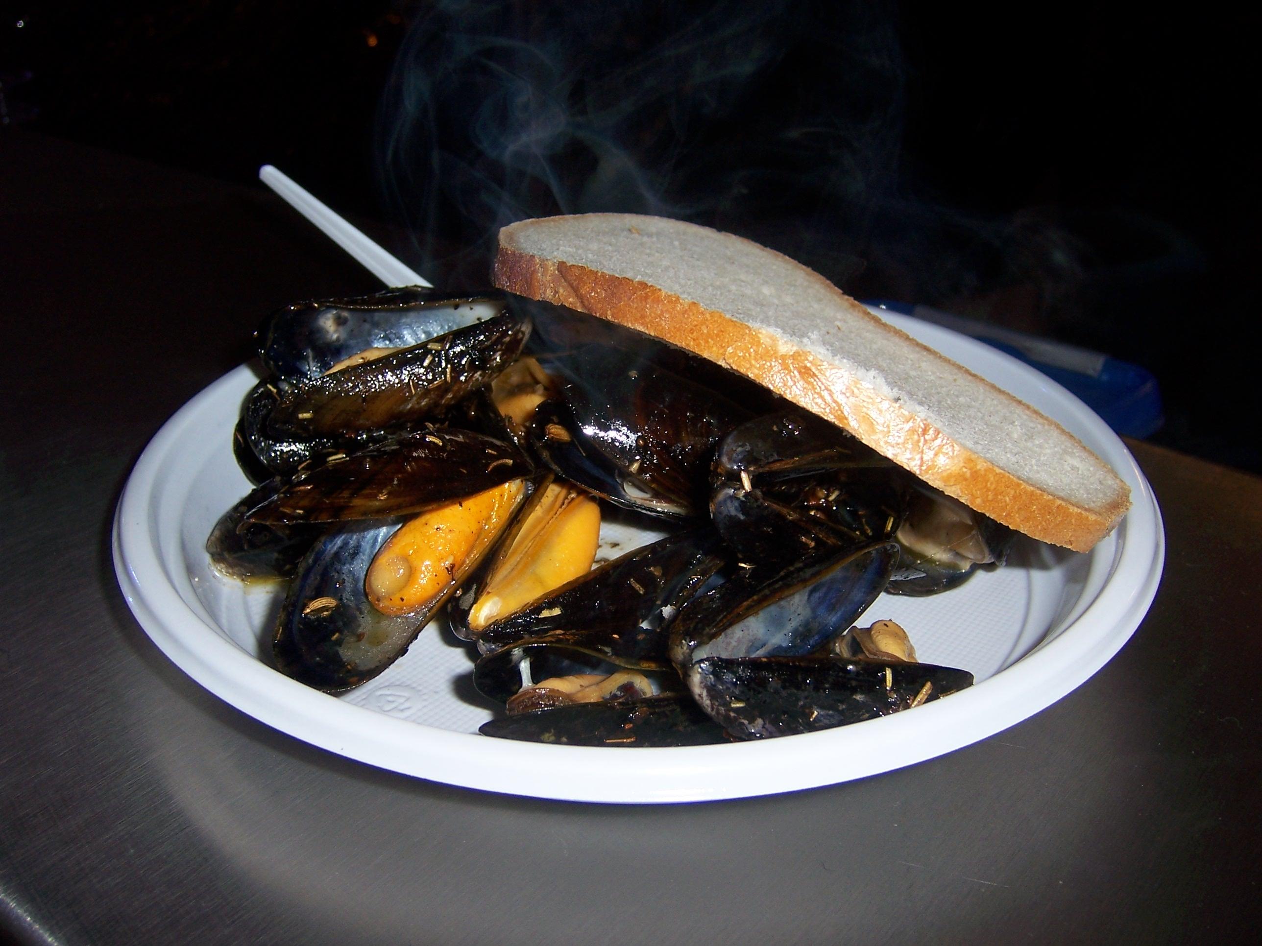 jídlo v Bruselu